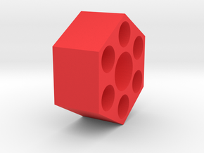 12mm Hex Wheel Adapter in Red Processed Versatile Plastic