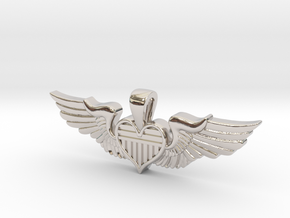 The Original Sweetheart Wing in Rhodium Plated Brass