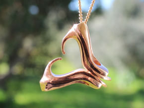 Shoe Lovers' Pendant in 14k Rose Gold Plated Brass