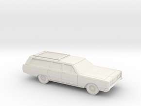 1/87 1965 Mercury Monterey Station Wagon in White Natural Versatile Plastic