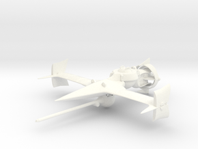 """Cowboy Bebop"" Swordfish II Ship  in White Strong & Flexible Polished"