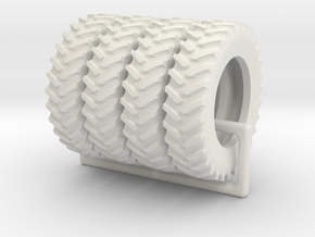 Tractor Tires  1/64 scale / 18.4-R42 tires in White Natural Versatile Plastic