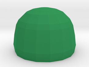 Cap for the 50 ml Leaf bottle in Green Processed Versatile Plastic: Medium