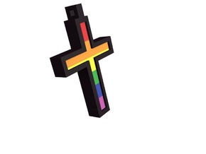 Pride Cross in Full Color Sandstone