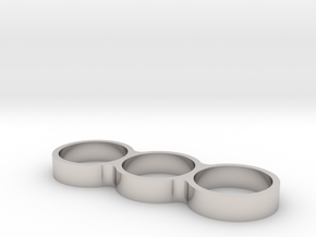 Triple Ring Bearing Spinner in Rhodium Plated Brass
