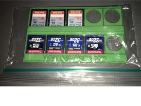 10 SD Cards on a 3x5 Index Card Holder in Green Processed Versatile Plastic