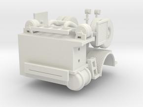 1/64 Philadelphia 1998-1999 Tiller Tractor rear in White Natural Versatile Plastic