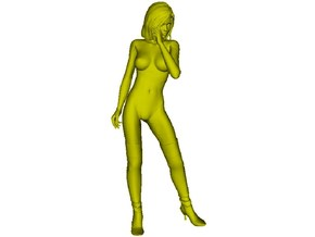 1/35 scale nose-art striptease dancer figure C in Smooth Fine Detail Plastic