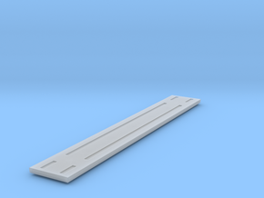 Heavyweight Flatcar - 68 foot - Zscale in Smooth Fine Detail Plastic