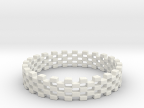Continum Ring (US Size-7)  in White Natural Versatile Plastic: 7 / 54