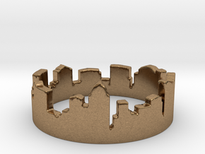 Columbus Night Ohio Ring Size 4 in Natural Brass: 4 / 46.5