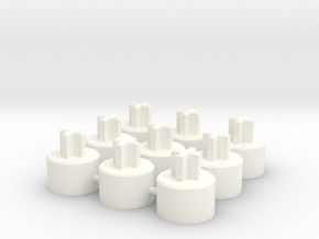 ALPS To Cherry MX Adapter - 9-up in White Processed Versatile Plastic
