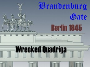 1-144 Quadriga For Brandenburg Gate in Frosted Ultra Detail