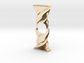 Twist Spinner in 14k Gold Plated Brass