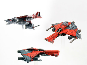 3-Pack Kihraxz Style Vaskai Fighter - Variant 2B in Frosted Extreme Detail