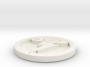 Hercules Medal in White Natural Versatile Plastic