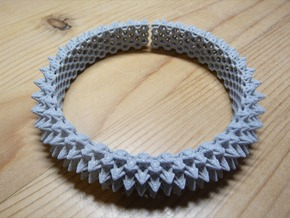Spikey Bangle 2 in Metallic Plastic