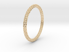 Hex Ring Bangle in 14k Gold Plated Brass