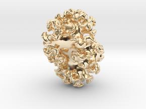 Nudibranch Pendant in 14K Yellow Gold: Medium