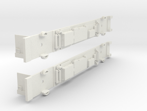 Siemens M Car Chassis Set in White Strong & Flexible: 1:160 - N