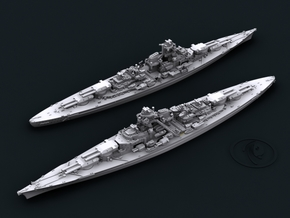 1/1800 KM BB Bismarck [1941] in White Strong & Flexible