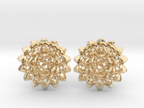 Plugs The Chrysanthemum / gauge / size 6G (3,2mm) in 14k Gold Plated Brass