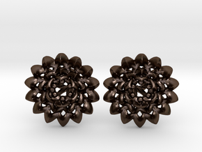 Plugs The Chrysanthemum / gauge / size 6G (3,2mm) in Polished Bronze Steel