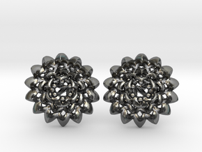Plugs The Chrysanthemum / gauge / size 6G (4mm) in Polished Silver