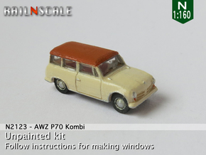AWZ P70 Kombi (N 1:160) in Smooth Fine Detail Plastic