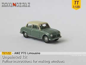 AWZ P70 Limousine (TT 1:120) in Smooth Fine Detail Plastic