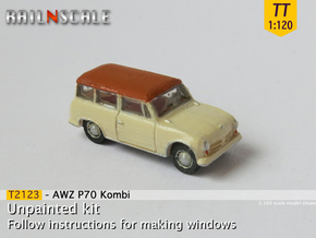 AWZ P70 Kombi (TT 1:120) in Smooth Fine Detail Plastic