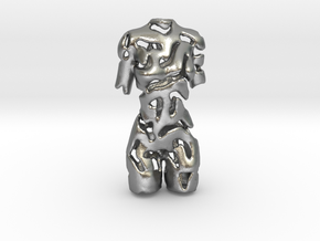 Woman - Female Torso   in Natural Silver