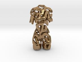 Woman - Female Torso   in Natural Brass