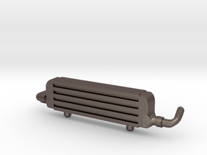 Front Mount Intercooler for Hot Wheels Cars in Polished Bronzed Silver Steel