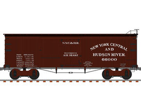 NYC&HR 35' Boxcar  LATE  Version in Frosted Ultra Detail