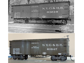NYC&HR 35' Boxcar  LATE  Version B in Smooth Fine Detail Plastic
