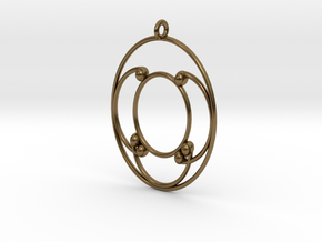 Oval Pendant in Polished Bronze