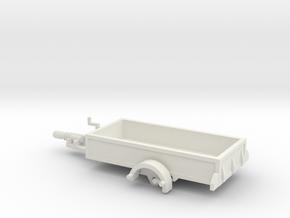 1056 Anhänger HO 1400 X 2950 in White Natural Versatile Plastic: 1:87 - HO
