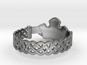 Claddagh Ring in Polished Silver: 8.5 / 58