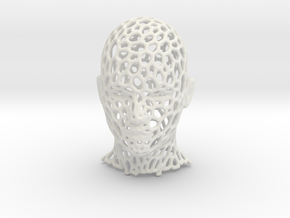Mesh Head in White Natural Versatile Plastic