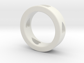 LOVE RING Size-12 in White Natural Versatile Plastic