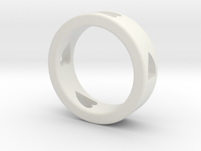 LOVE RING Size-13 in White Natural Versatile Plastic