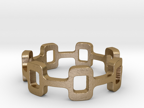 Ipa stack Ring Size 7.5 in Polished Gold Steel: 7.5 / 55.5