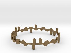 Bracelet Norma x2 in Natural Bronze