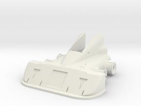 CW Dragstrip Front Spoiler pt1 - Spoiler in White Natural Versatile Plastic