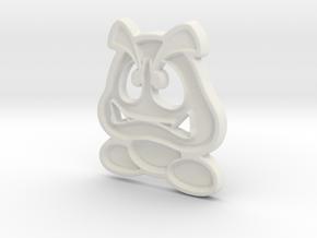 Paper Goomba in White Natural Versatile Plastic