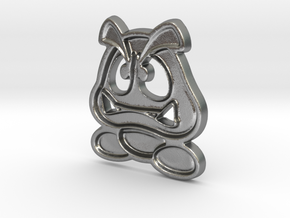 Paper Goomba in Natural Silver