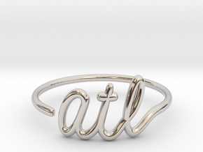 ATL Wire Ring (Adjustable) in Rhodium Plated Brass