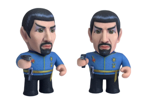 Mirror Spock Star Trek Caricature in Full Color Sandstone