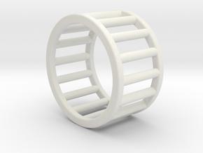 Albaro Ring Size-4 in White Natural Versatile Plastic